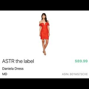ASTR the Label Crochet Red Dress